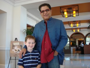 Two of Andy's Favorite Teachers - His son & Dr. Deepak Chopra