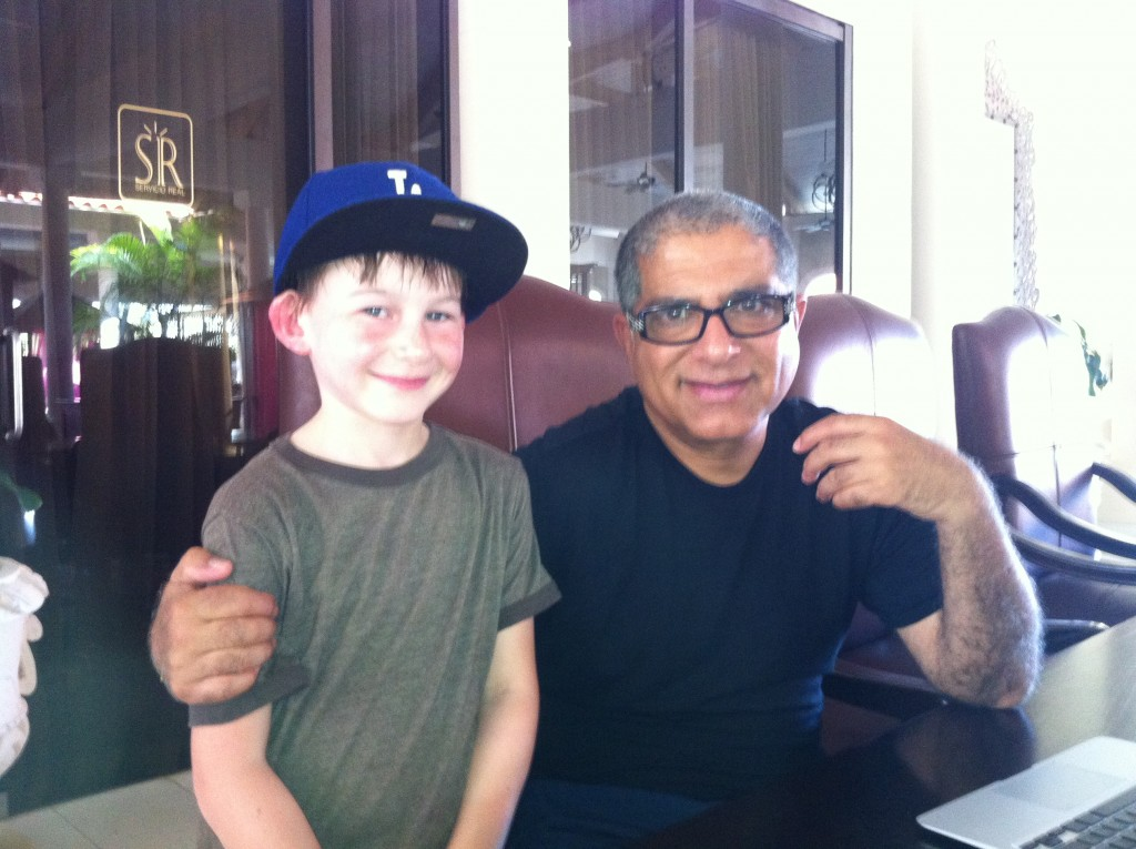 Two of Andy's favorite teachers, his son and Deepak Chopra